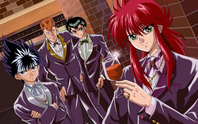Of the cast, I'd say that Kurama is the only one who doesn't look out of place in a tuxedo.